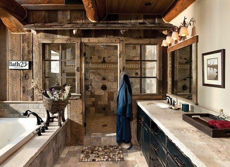 Baño en piedra