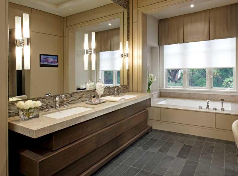 Mueble con dos lavabos